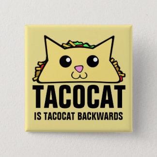 Tacocat Backwards 15 Cm Square Badge