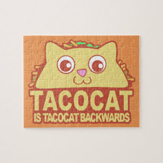 Tacocat Backwards II Jigsaw Puzzle