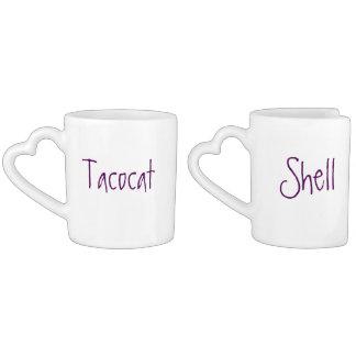 tacocat & shell couple's mug set