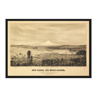 Tacoma and Mount Rainer, Washington (1878) Canvas Print
