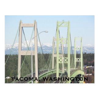 Tacoma Narrows Bridges Travel Postcard