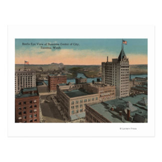 Tacoma, WA - Bird's Eye View of Downtown Postcard