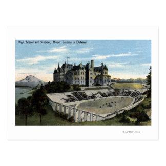 Tacoma, Washington - View of High School Postcard