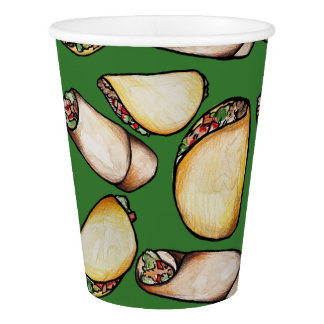 Tacos and Burritos pattern Paper Cup