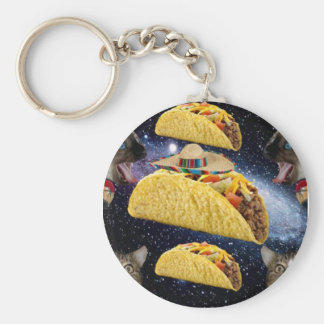 Tacos and Cats Basic Round Button Key Ring