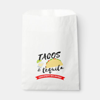 Tacos and Tequila Birthday Party Favour Bag