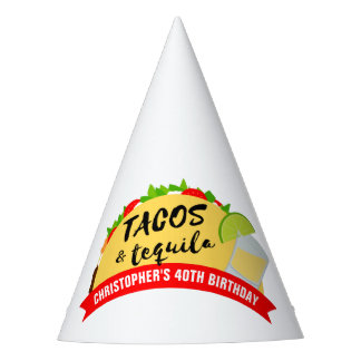Tacos and Tequila Birthday Party Party Hat