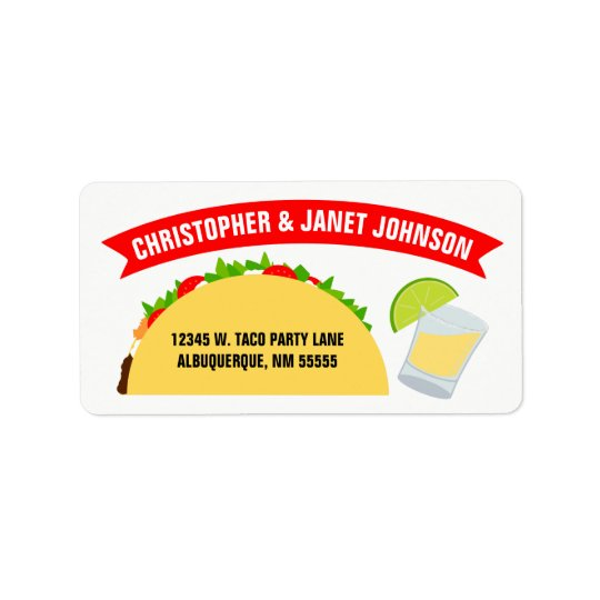 Tacos and Tequila Label