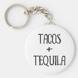 Tacos and Tequila Party Girl Key Ring