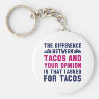 Tacos And Your Opinion Basic Round Button Key Ring