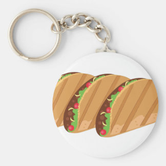 Tacos Basic Round Button Key Ring