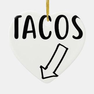 Tacos Ceramic Ornament