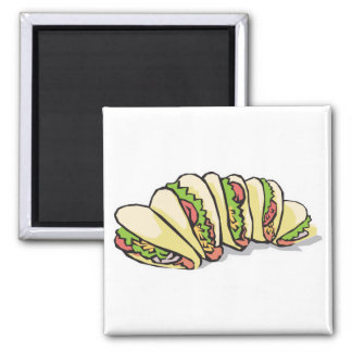 tacos refrigerator magnet