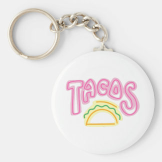 Tacos Neon Sign Key Chain