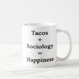 Tacos Plus Sociology Equals Happiness Coffee Mug