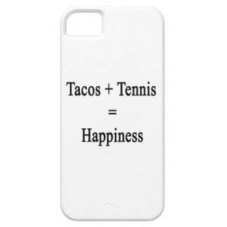 Tacos Plus Tennis Equals Happiness iPhone 5 Cases