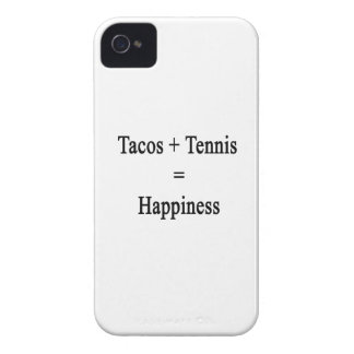 Tacos Plus Tennis Equals Happiness iPhone 4 Case-Mate Case