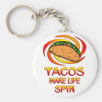 Tacos Spin Keychains