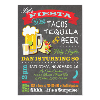 Tacos, Tequila and Beer for Dan Card