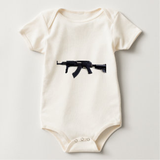 Tactical AK47 Assault Rifle Left Profile Baby Bodysuit