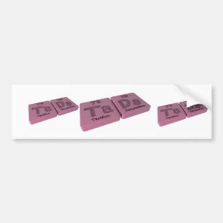 Tads as Ta Tantalum and Ds Darmstadtium Bumper Sticker