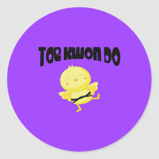 Tae Kwon Do chick Round Stickers