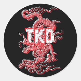 Tae Kwon Do Dragon Stickers
