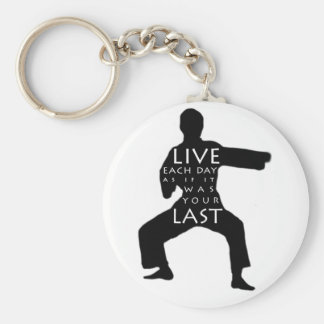 Tae Kwon Do / Karate Keychain - Live Each Day
