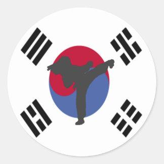 Tae Kwon Do Kicker female Stickers