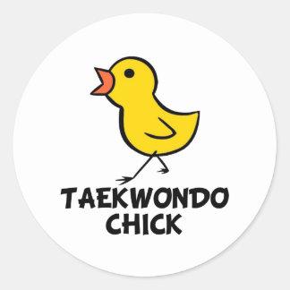 Taekwondo Chick Sticker