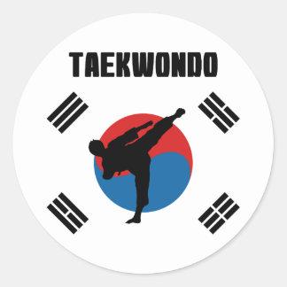 Taekwondo Classic Round Sticker