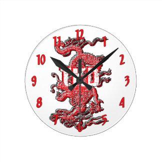 Taekwondo Dragon Round Clock