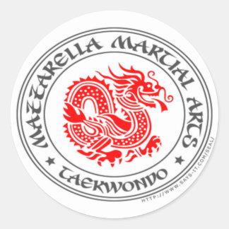 {Taekwondo Dragon} Round Sticker