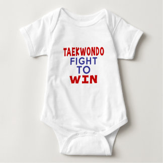 TAEKWONDO FIGHT TO WIN BABY BODYSUIT
