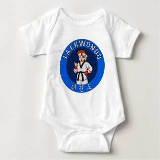 taekwondo guy badge baby bodysuit