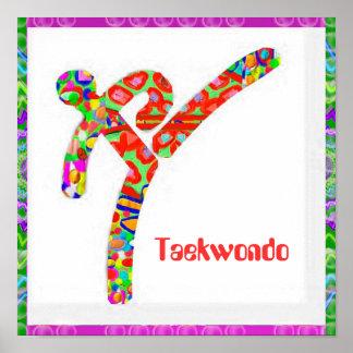 TAEKWONDO - Hobby, Exercise, Sports Poster