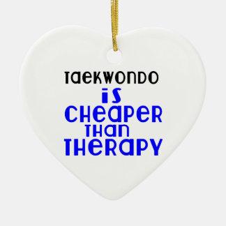 Taekwondo Is Cheaper  Than Therapy Ceramic Heart Decoration