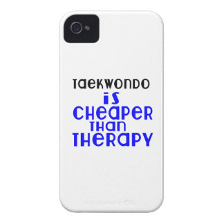 Taekwondo Is Cheaper  Than Therapy iPhone 4 Case-Mate Cases