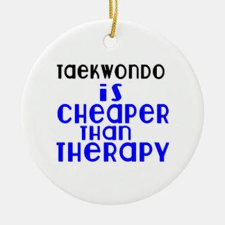 Taekwondo Is Cheaper  Than Therapy Round Ceramic Decoration