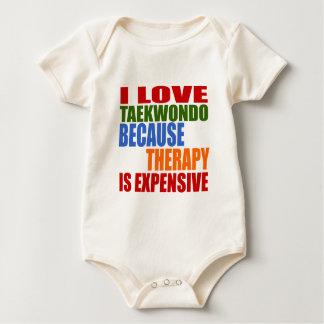 Taekwondo Is My Therapy Baby Bodysuit