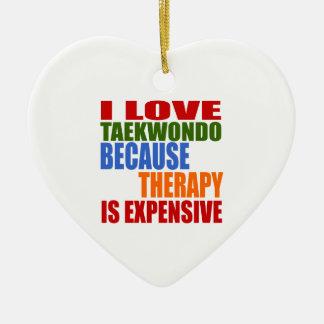 Taekwondo Is My Therapy Ceramic Heart Decoration