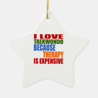 Taekwondo Is My Therapy Ceramic Star Decoration