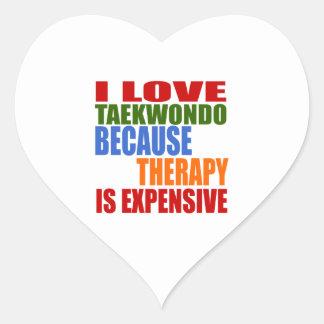 Taekwondo Is My Therapy Heart Sticker