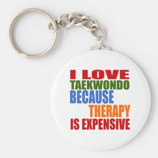 Taekwondo Is My Therapy Key Ring