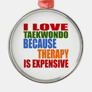 Taekwondo Is My Therapy Metal Ornament