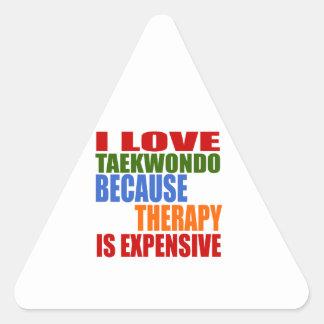 Taekwondo Is My Therapy Triangle Sticker