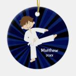Taekwondo Karate White Belt Boy Personalised