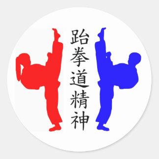 Taekwondo Kickers Stickers