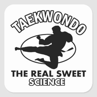Taekwondo martial arts designs square sticker
