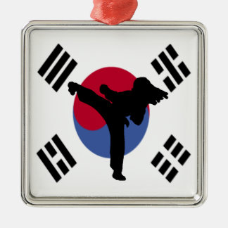 Taekwondo Metal Ornament
